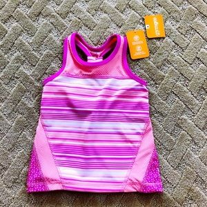 Gymboree Striped Floral Back Active Tanktop